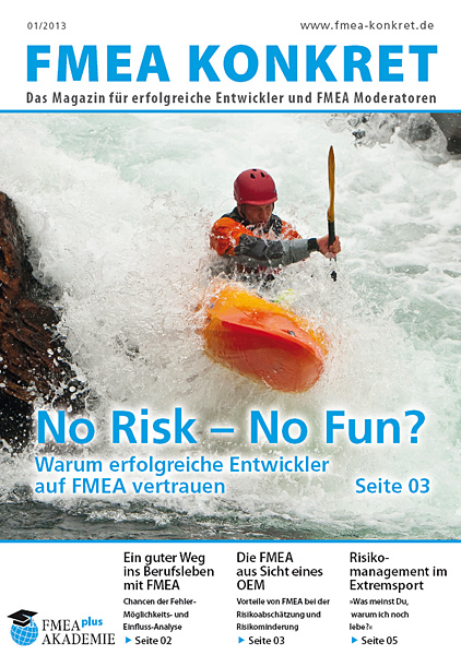 FMEA: NO Risk - No Fun?